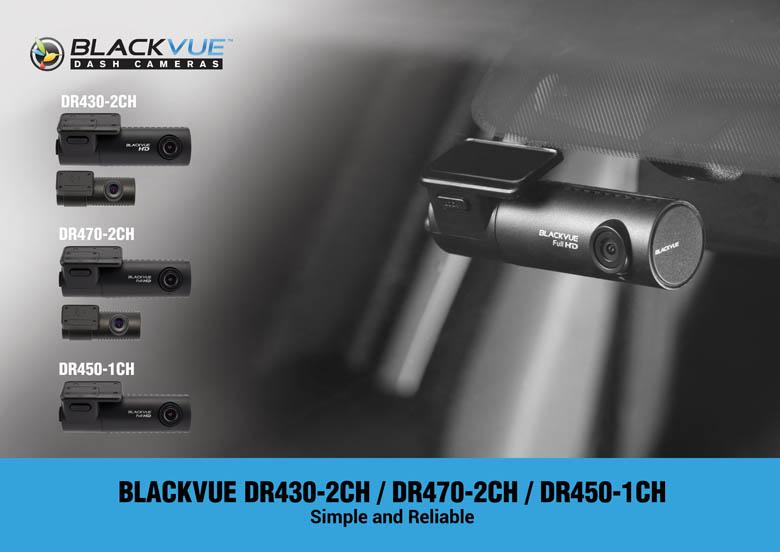 BlackVue 400 Series Dashcam Graphic: DR430-2CH, DR470-2CH, and DR450-1CH comparison photo