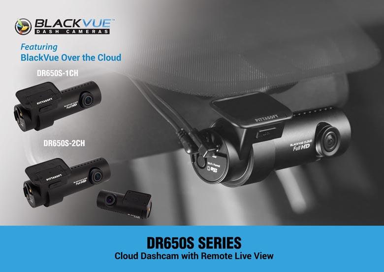 BlackVue 600 Series Graphic: DR650S-1CH, DR650S-2CH, DR650S-2CH-IR, DR650S-2CH Truck comparison photo