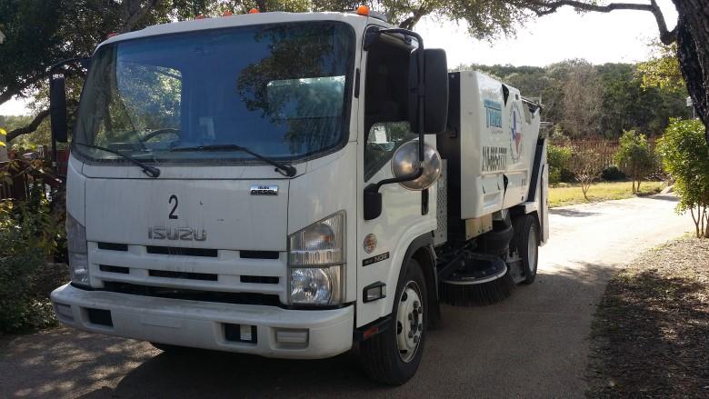 image: Fleet Dashcam Case Study: San Antonio Sweeping Service   One of the Trucks in the Fleet of 9 vehicles   The Dashcam Store Blog