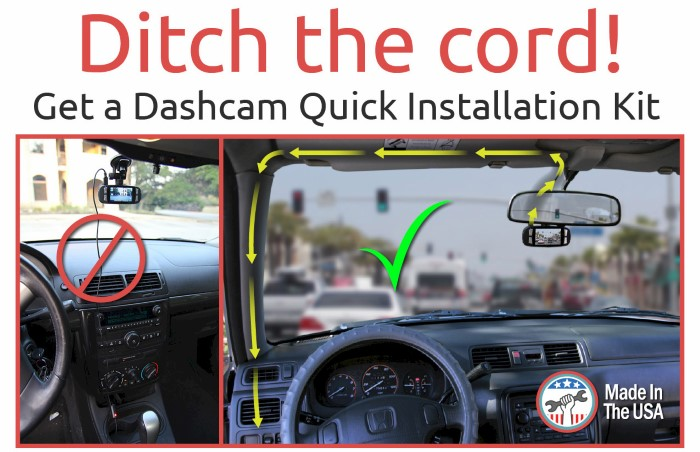 Dash Cam Installation Kit ditch the cord - benefits explainer image