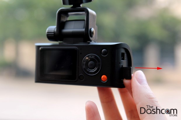 Eject dashcam memory card