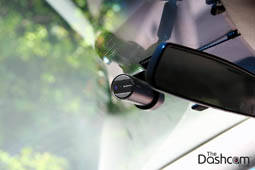 photo of a BlackVue DR650S-1CH front dashcam installed in a Toyota Camry Hybrid