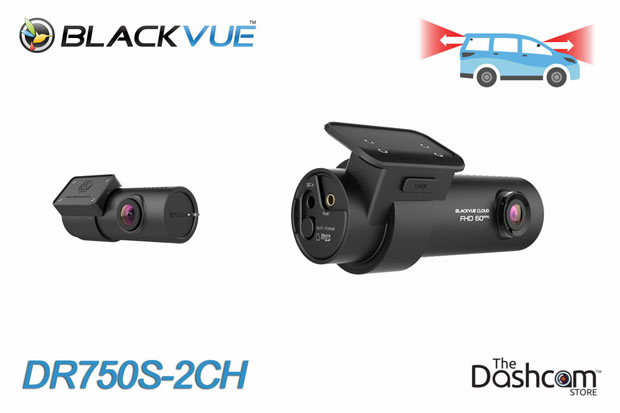 BlackVue DR750S-2CH dash cam with dual 1080p resolution for front and rear video recording