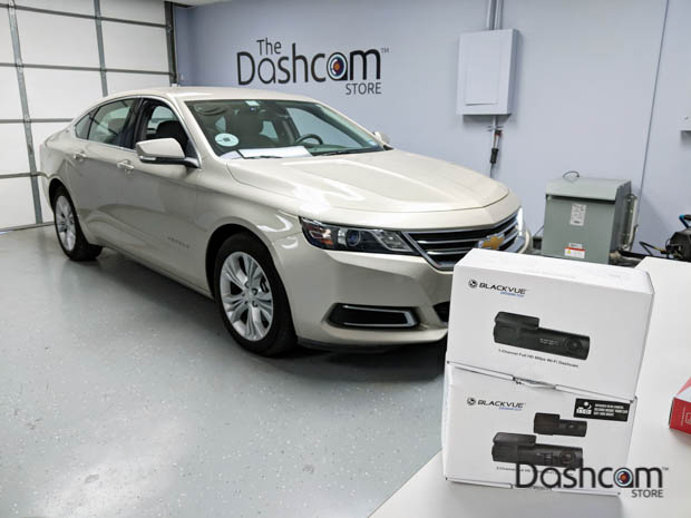 BlackVue Essential Dashcam Bundle Installed in a 2014 Chevrolet Impala