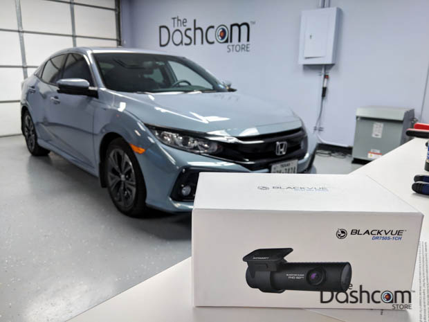 BlackVue DR750S-1CH dashcam installed in 2017 Honda Civic