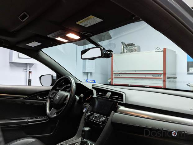 BlackVue DR750S-1CH dashcam installed in 2017 Honda Civic