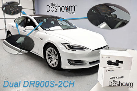 Tesla Model S with Dual DR900S-2CH Quad Cam Installation