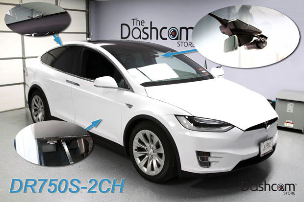 2018 Tesla Model X with DR750S-2CH Installation Compilation