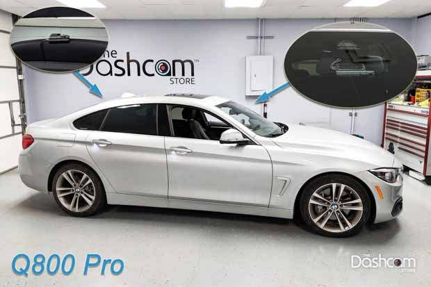 Thinkware Q800 Pro Dash Cam Installed in a BMW 440i