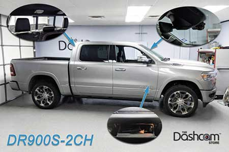 Dodge Ram 1500 with BlackVue DR900S-2CH Dash Cam Installation