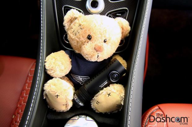 BlackVue DR650GW-2CH dash cam with Aston Martin teddy bear thumbnail