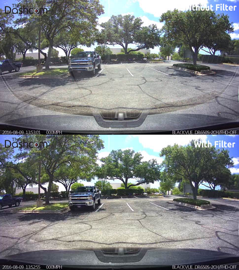 Dash Cam Polarizing Filter Comparison Example 1