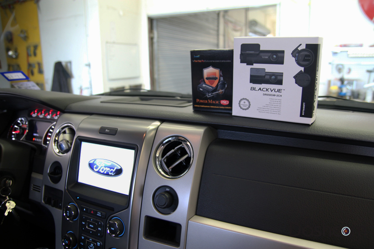 Ford F 150 Blackvue Dr650gw 2ch Dual Lens Dash Cam Installation 2011 Ecoboost Fuse Box Diagram Dashcam 2013 F150