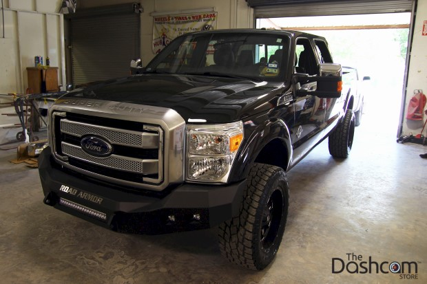 BlackVue DR650GW-2CH Dash Cam Installed in a 2014 Ford F250 Superduty