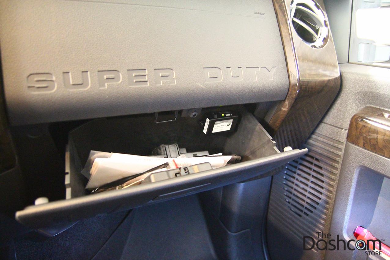 2014 Ford F250 Superduty BlackVue DR650GW-2CH Dash Cam Installed
