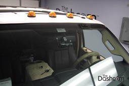 photo of a BlackVue DR650S-2CH Truck front and rear facing dashcam installed in a Ford F-350 Superduty Work Truck