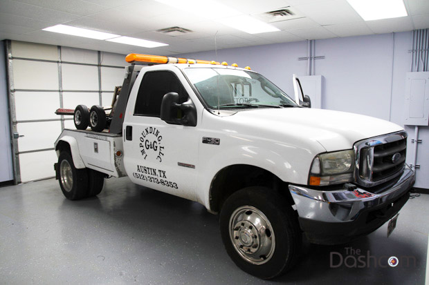 EOS VT-300 Professionally Installed in a 2004 Ford F450 Series Tow Truck
