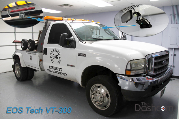 VT-300 3-CH Fleet Dash Cam Installed in a 2004 Ford F450 Tow Truck