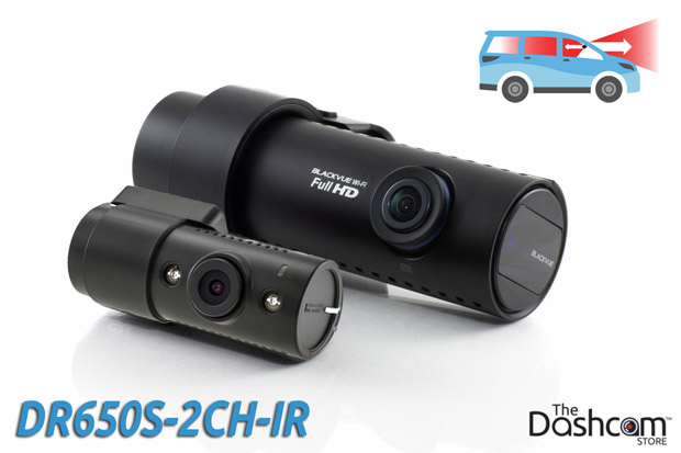 BlackVue DR650S-2CH-IR night vision dash cam for front and inside video recording