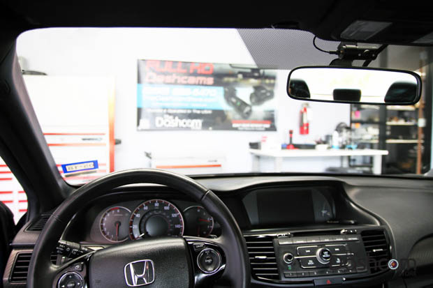 BlackVue DR650S-2CH-IR dash cam installed in 2016 Honda Accord Sport