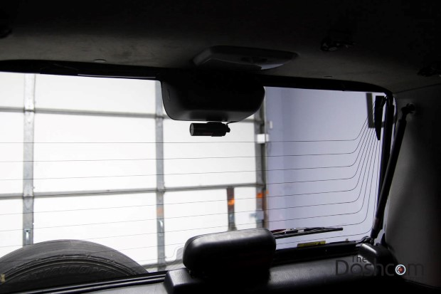 BlackVue DR430-2CH dash cam installed in Honda CR-V SUV