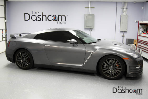 BlackVue DR650S-2CH-IR dash cam installed in Nissan GTR GT-R
