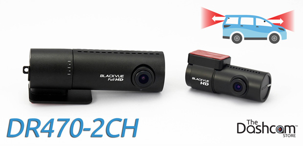 BlackVue DR470-2CH-Truck dash cam for front and rear video recording