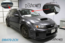 photo of a BlackVue DR470-2CH front and rear dashcam installed in a Subaru Impreza WRX from complete install photo gallery