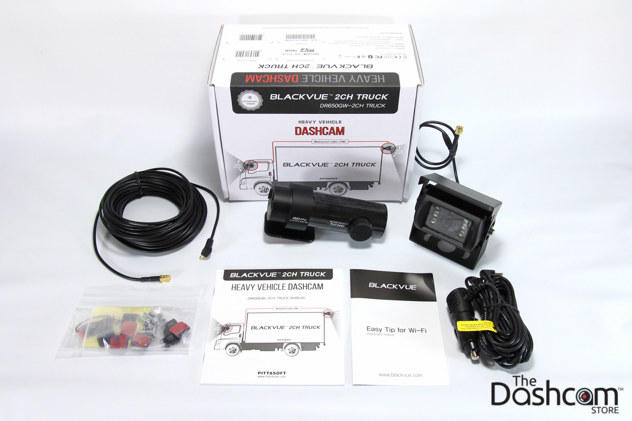 blackvue dr650gw 2ch truck and r 100 rearview kit in a