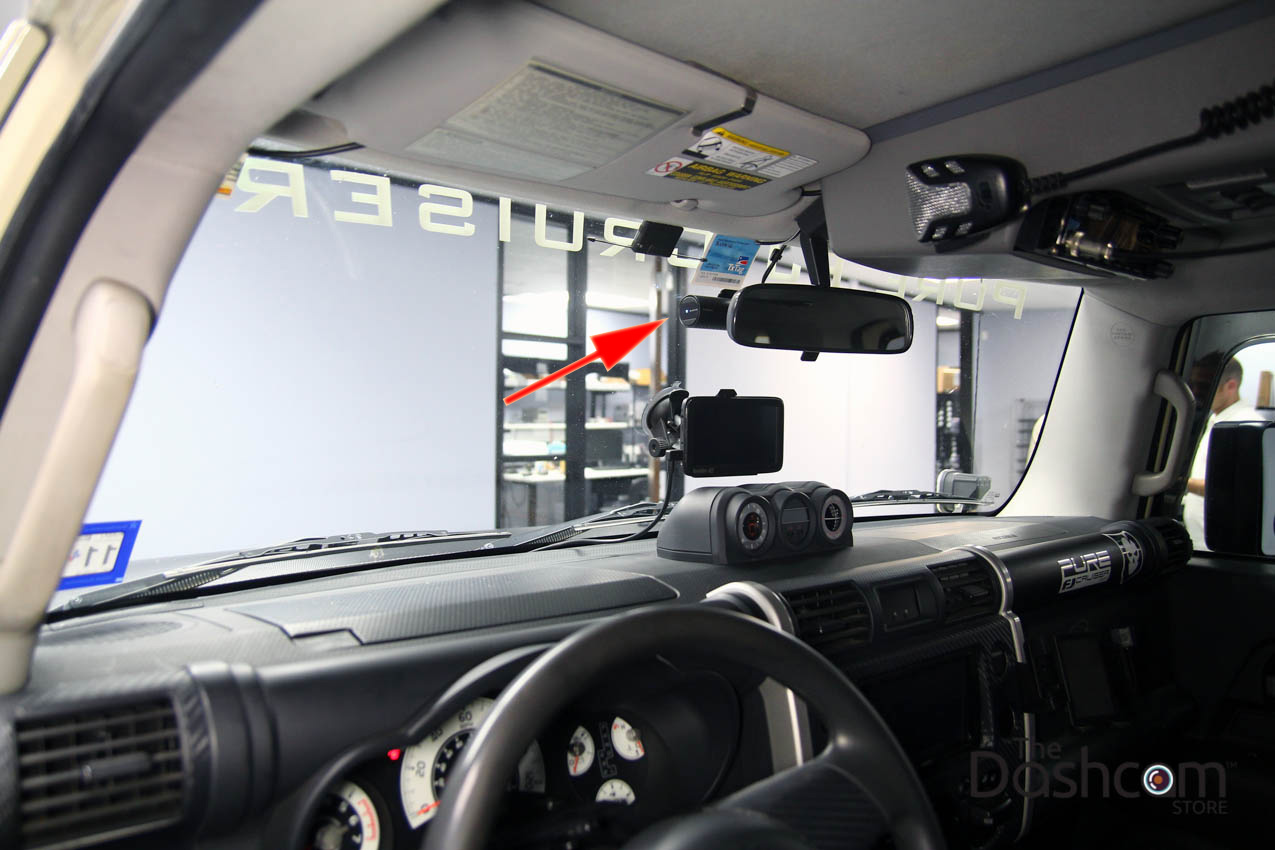 Blackvue Dr650s 2ch Dash Cam Installed In A Toyota Fj