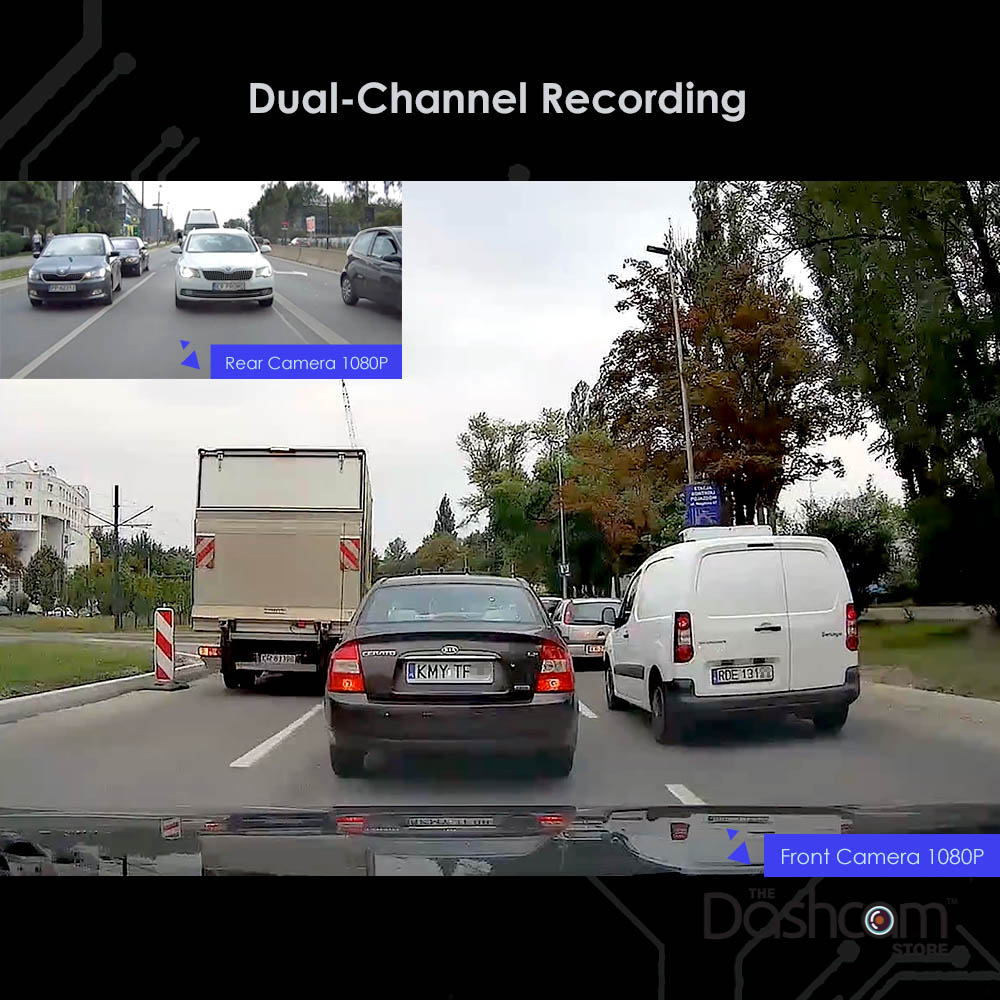 VIOFO A129 DUO | Front and Rear Dash Cam Sample Footage Image