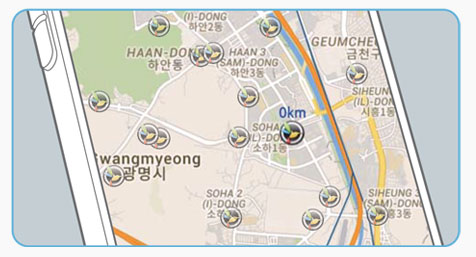 Visualize on a map your car's location and speed