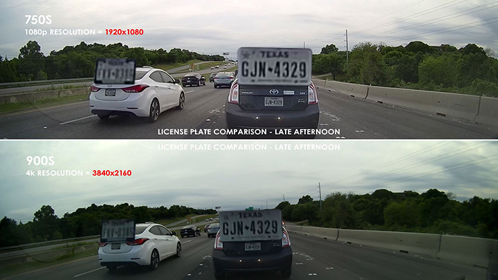 Premium Dashcam Shootout: Further license plate test