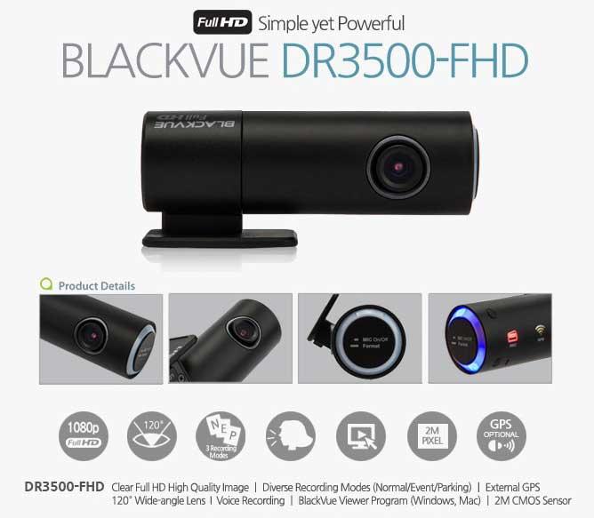BlackVue DR3500-FHD dashcam photo