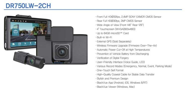 BlackVue DR750LW-2CH dashcam photo