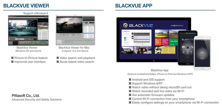 BlackVue desktop and mobile apps photo