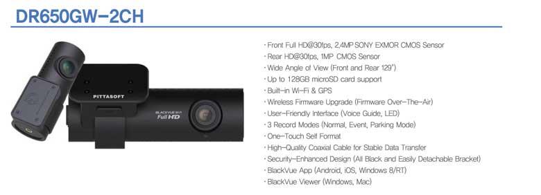 BlackVue DR650GW-2CH dashcam photo