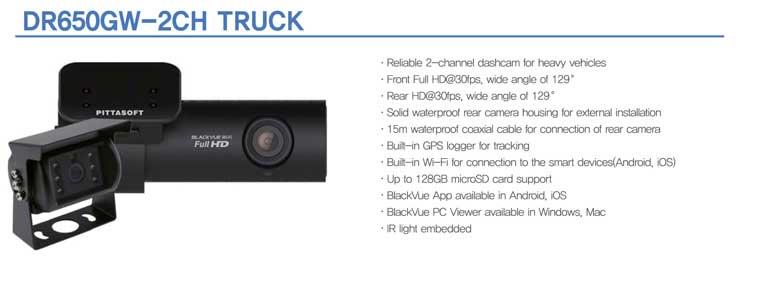 BlackVue DR650GW-2CH-Truck dashcam photo