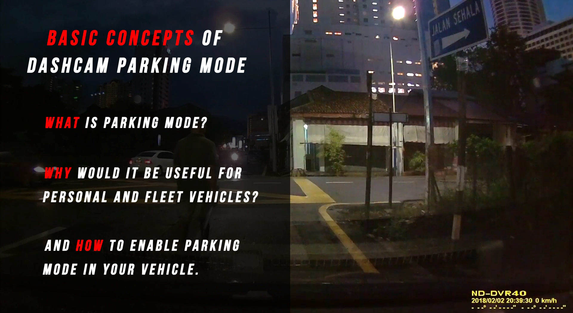 Home Security Camera Car Anti Vandal Theft Parking Mode IR Motion Activated Spy