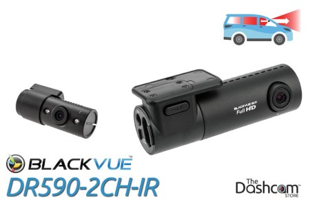 BlackVue DR590-2CH-IR Dual-Lens Dual 1080p HD Dash Cam | For Front and Interior Audio and Video Recording