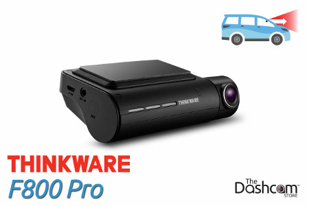 Thinkware F800 Pro Dashcam, for forward-facing or front and rear video and audio recording