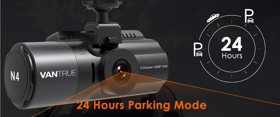 Vantrue N4 Parking Mode Graphic