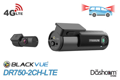 BlackVue DR750-2CH-LTE Dual Lens 4G-LTE GPS WiFi Cloud-Capable Dashcam for Front and Rear
