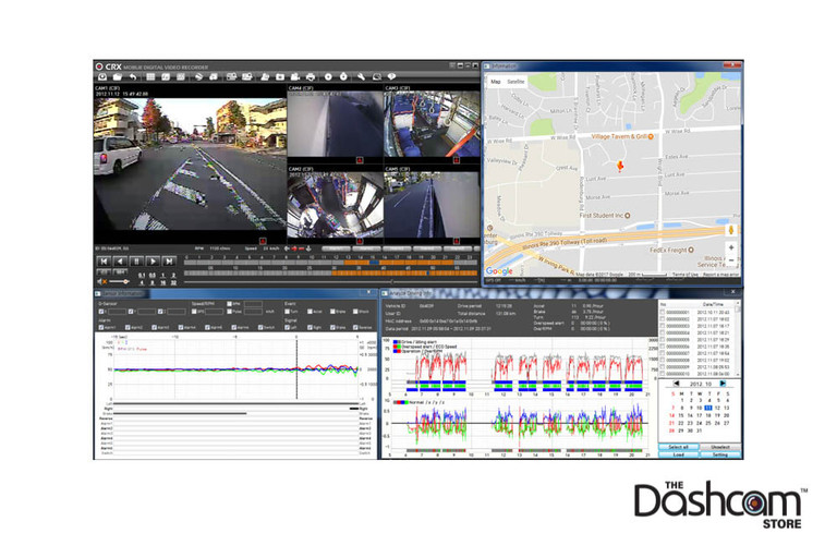 SmartWitness CRX 8-Channel Professional Dash Cam Example Video and Data Analytics | The Dashcam Store Blog