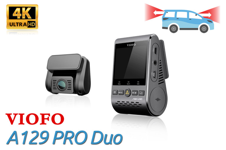 VIOFO A129 PRO Duo | Dual Lens UHD 4K Dashcam for Front and Rear Recording