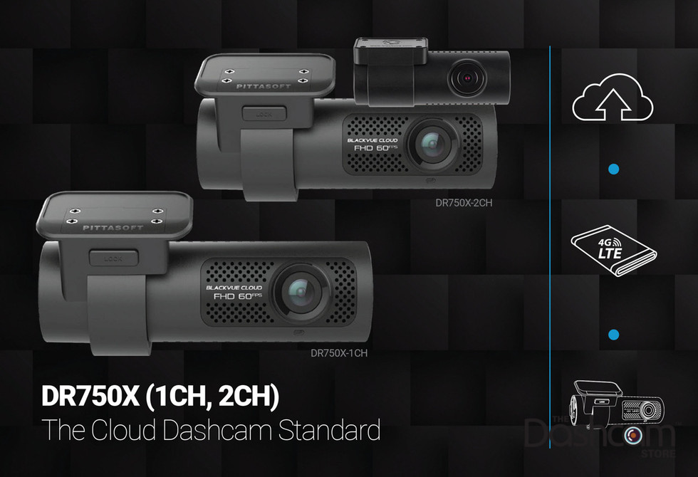 BlackVue DR750X-1CH Dash Cam Promo Graphic | The Cloud-Standard 1 and 2CH Dashcams