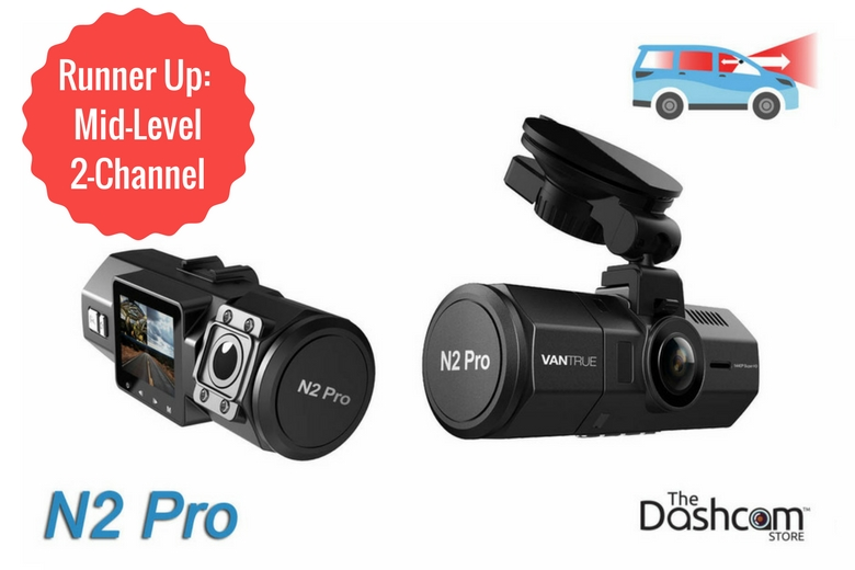 Vantrue N2 Pro Dual Lens Dual 1080p Dash Cam | for Rideshare Front + Inside Video and Audio Recording