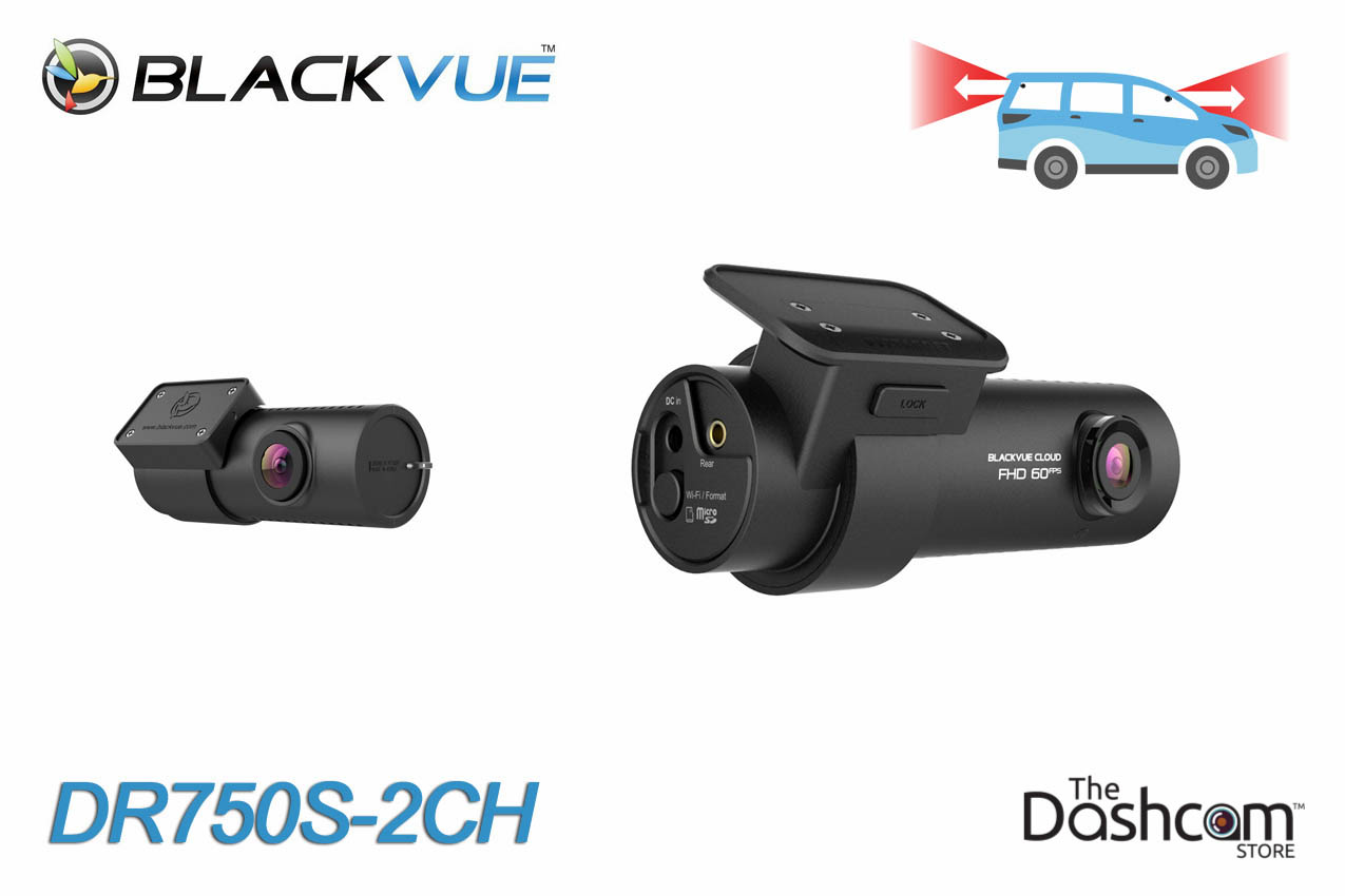 The new BlackVue DR750S-2CH dashcam with dual 1080p resoultion for front and rear video recording