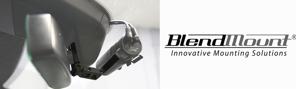 BlendMount: specialized BlackVue dashcam mounting solutions for rear view mirror stems, Made in the USA