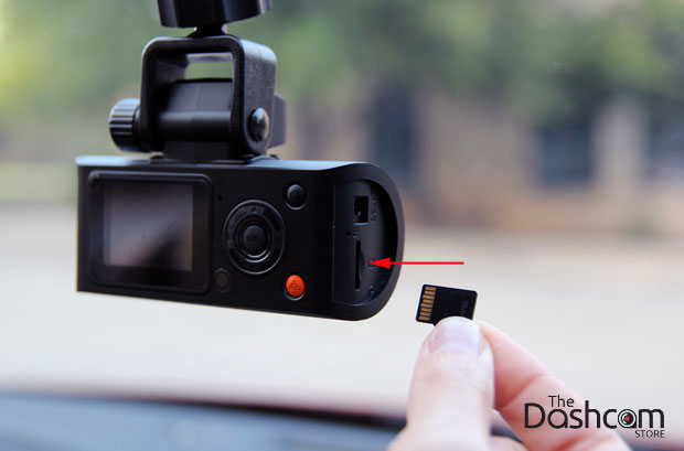 Dashcam insert memory card